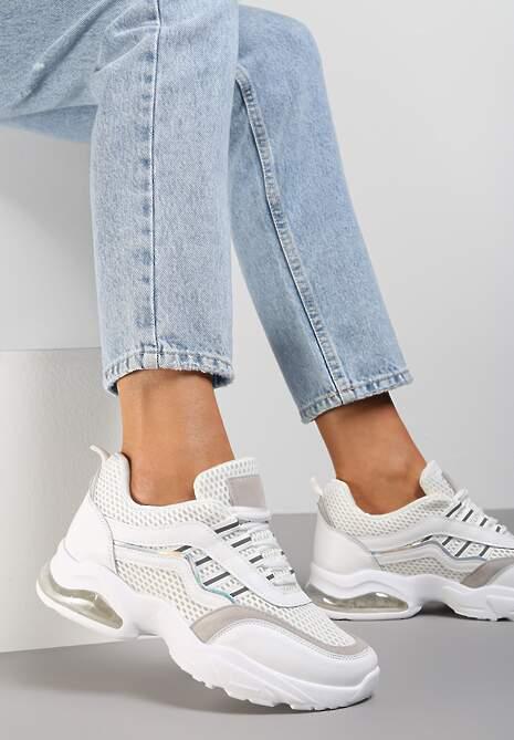 Białe Sneakersy Glossiness