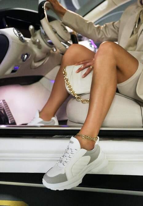 Biało-Szare Sneakersy Doreania