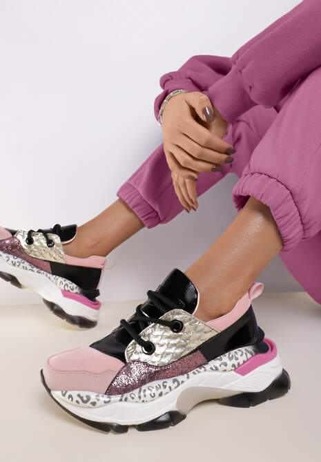 Różowe Sneakersy Leuceris