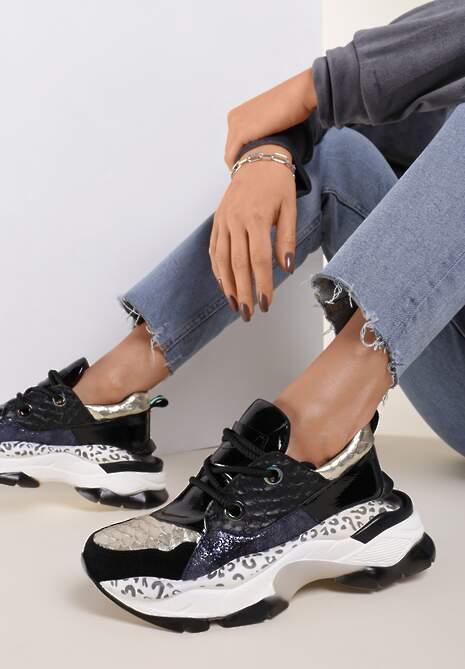 Czarne Sneakersy Leuceris