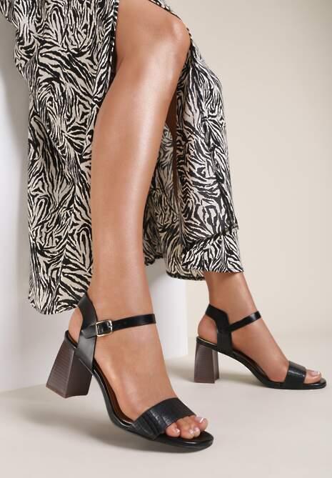 Czarne Sandały Brivien