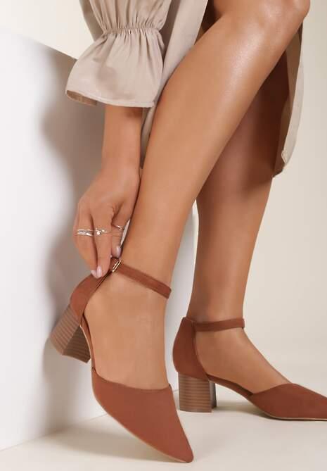 Brązowe Sandały Kleorea