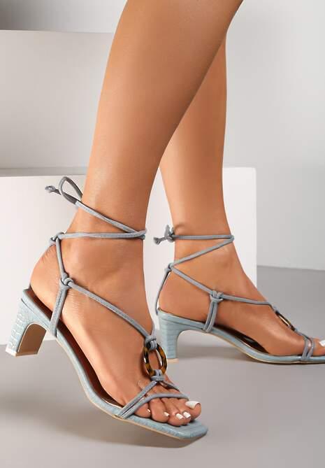 Niebieskie Sandały Allurenna