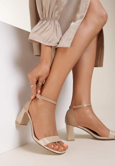 Beżowe Sandały Adomoni