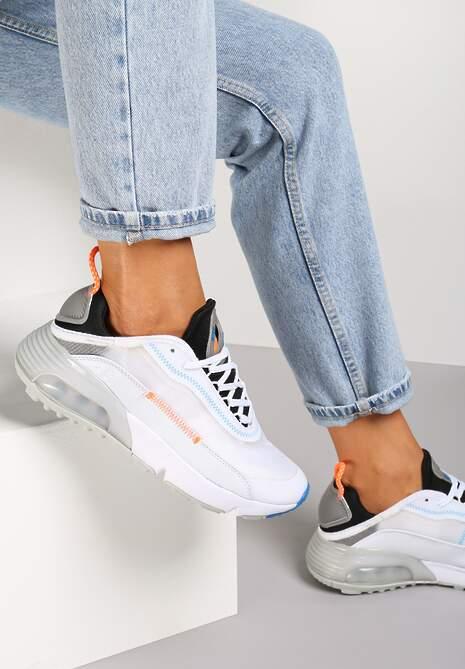 Biało-Szare Buty Sportowe Azama