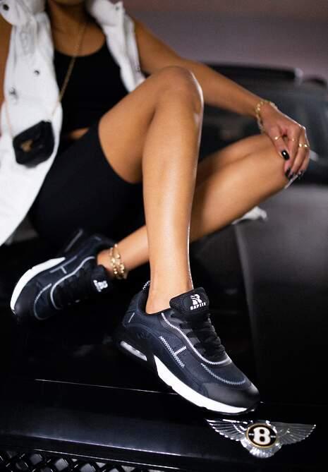 Czarne Buty Sportowe Qinerris