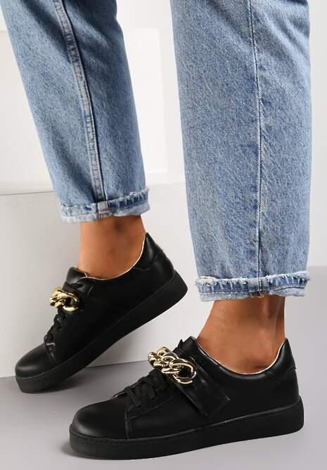 Czarne Sneakersy Amathista