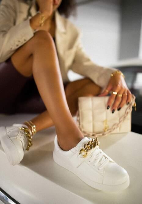 Białe Sneakersy Amathista