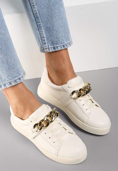 Beżowe Sneakersy Amathista