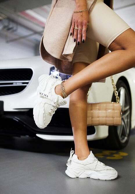 Beżowe Sneakersy Astemisia
