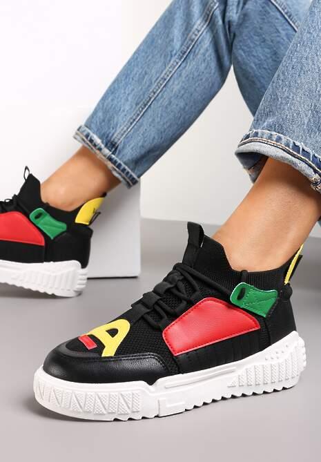 Czarne Sneakersy Agathime