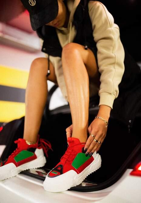 Biało-Czerwone Sneakersy Agathime