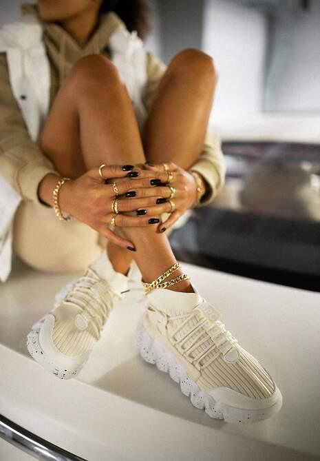 Beżowe Sneakersy Chrysialla