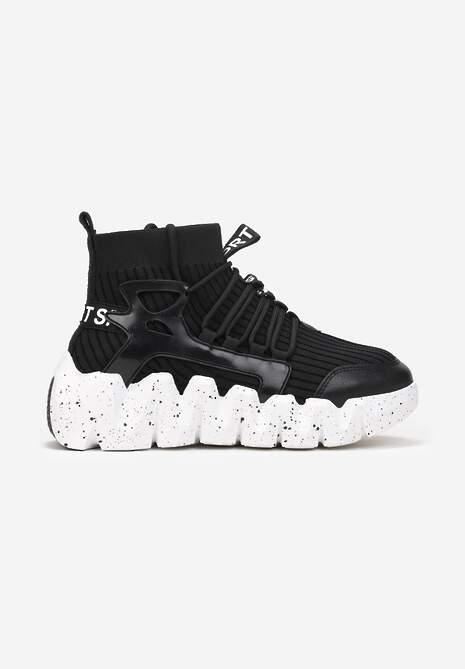 Czarne Sneakersy Chrysialla