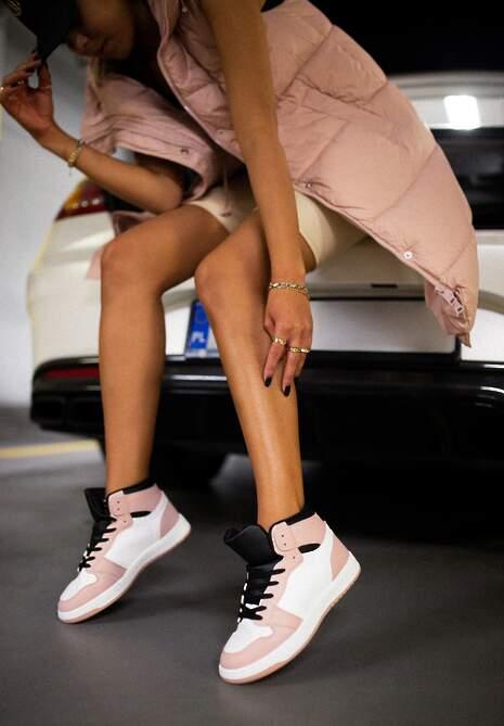 Biało-Różowe Sneakersy Asithera