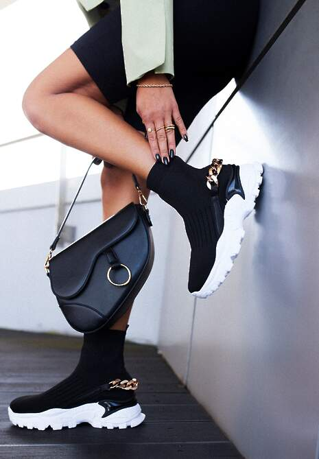 Czarne Sneakersy Philopis
