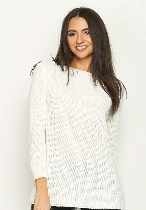 Biały Sweter Something Fishy