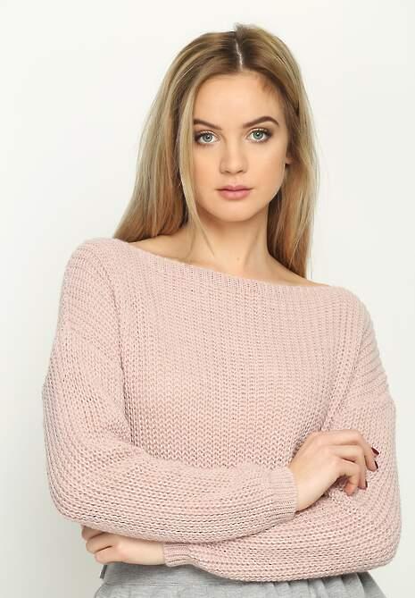Różowy Sweter Casual