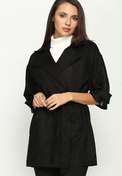 Czarny Płaszcz Flow