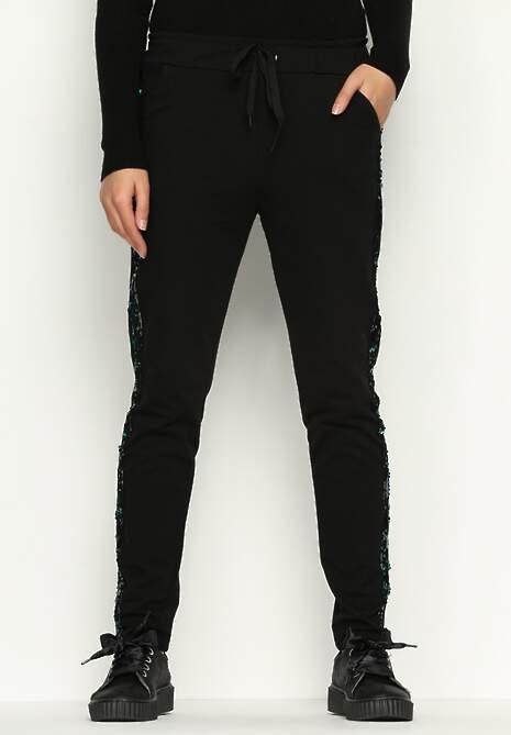 Czarne Spodnie Dresowe Comfy