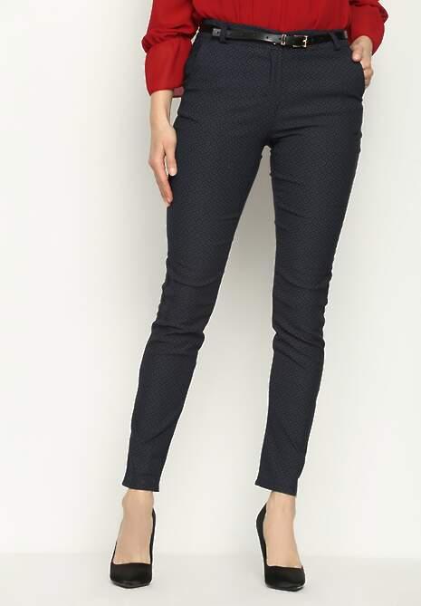 Granatowe Spodnie Wealth