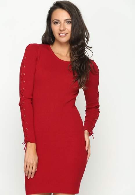 Czerwona Sukienka Simplicity