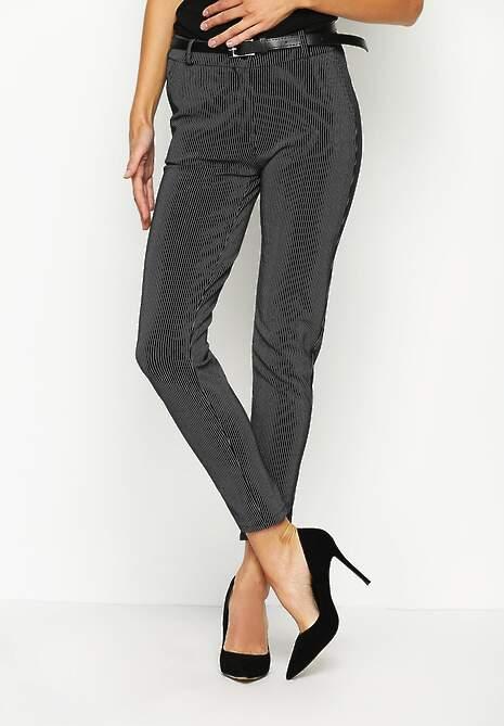 Czarne Spodnie Midstream