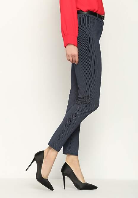 Granatowe Spodnie Midstream