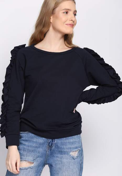 Ciemnogranatowa Bluza Fancy Sleeves