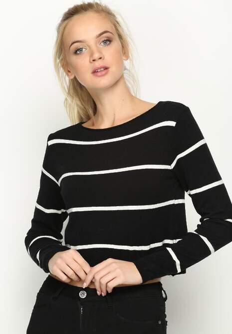 Czarny Sweterek Dilate