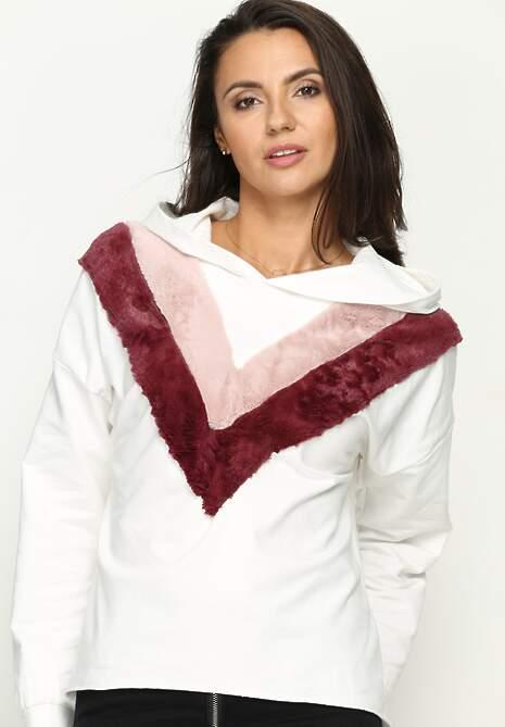 Biała Bluza Double V