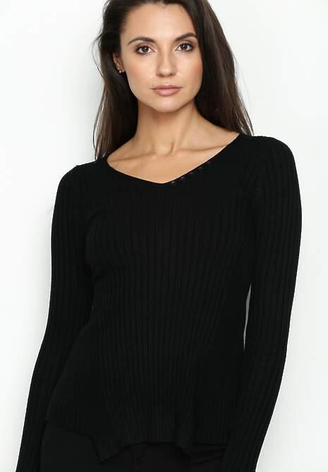 Czarny Sweterek Bat Tail