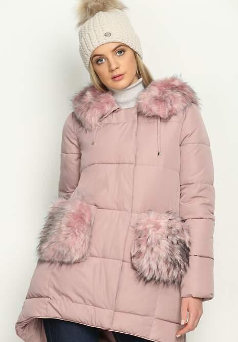 Różowa Kurtka Furry Pockets