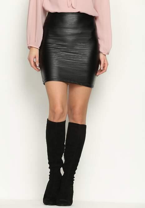 Czarna Spódnica Pinstripe
