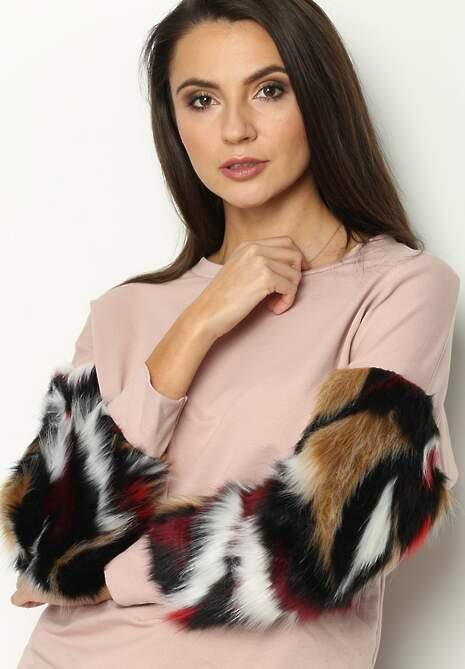 Różowa Bluza Beastie Hood
