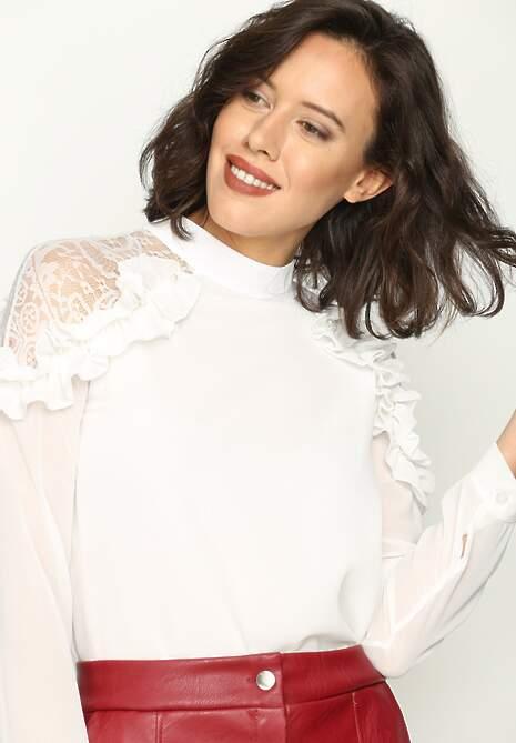 Biała Bluzka New Romantic
