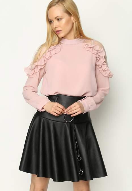 Różowa Bluzka New Romantic