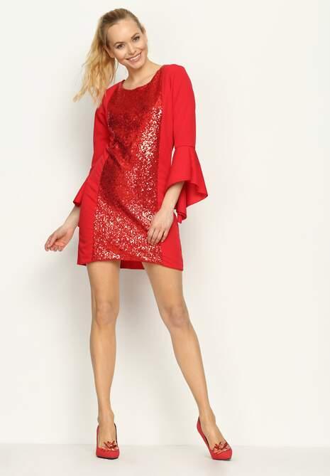 Czerwona Sukienka Viva Diva
