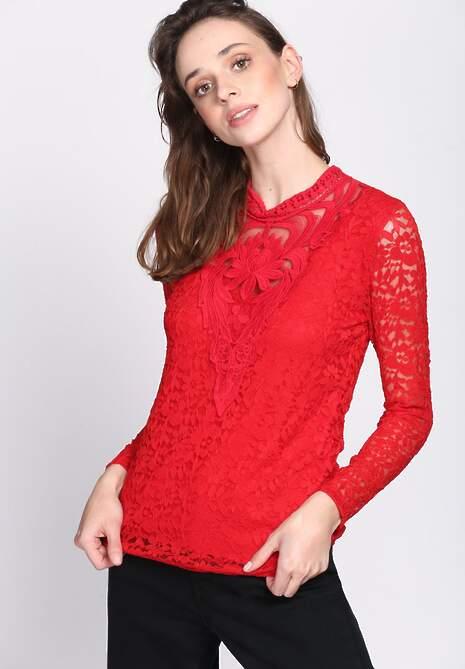 Czerwona Bluzka Victorian