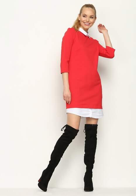 Czerwona Sukienka  Shirt Dress