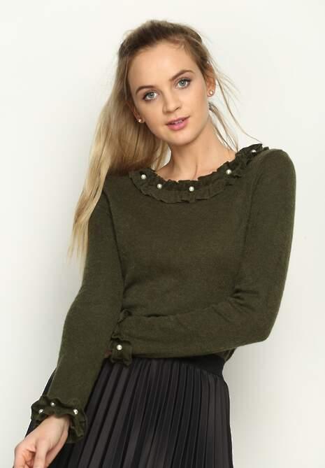 Zielony Sweterek Fragileness