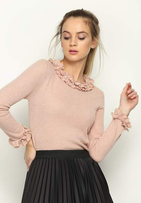 Różowy Sweterek Fragileness