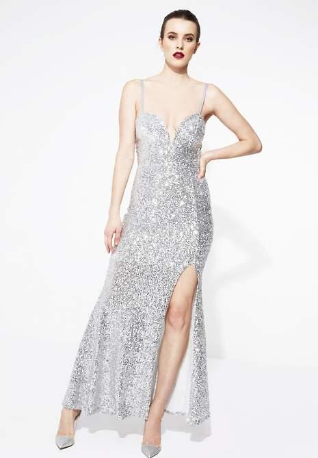 Srebrna Sukienka Shine On Me
