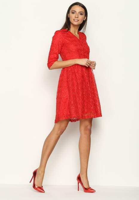 Czerwona Sukienka Tea Time