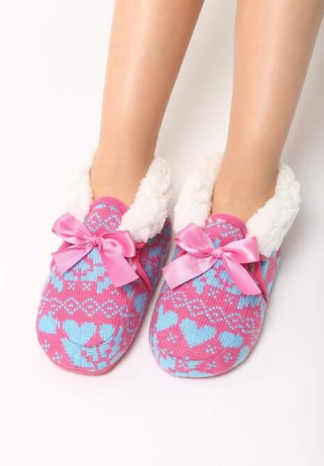 Różowo-Niebieskie Kapcie Carpet Slippers