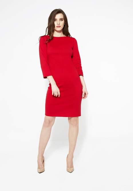 Czerwona Sukienka Straight