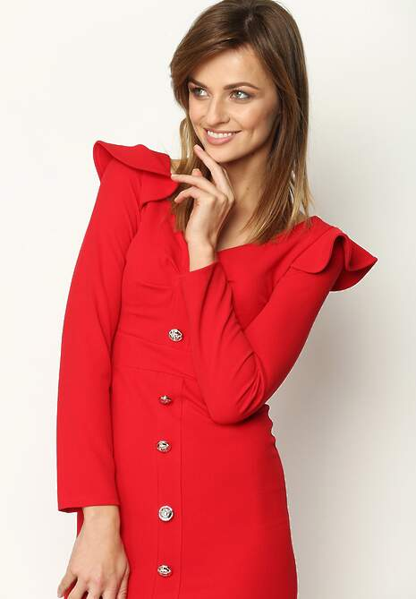 Czerwona Sukienka Eighties Vip