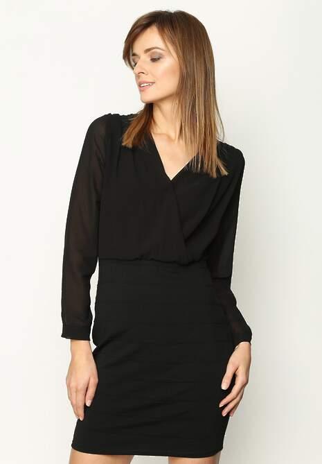 Czarna Sukienka Neatness