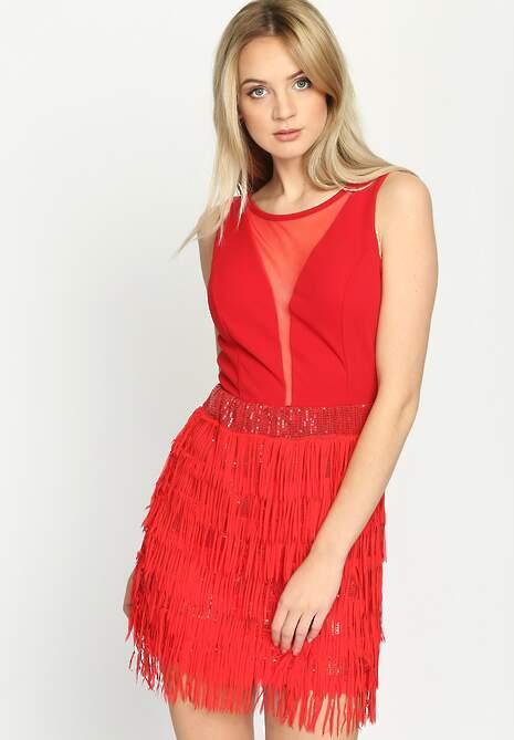 Czerwona Sukienka Sensual Lady