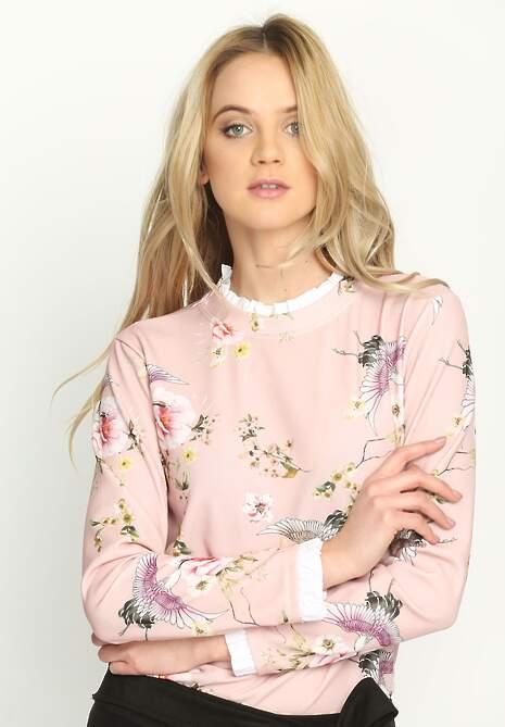 Różowa Bluzka Flowery